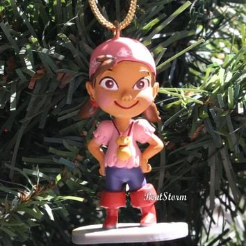 Licensed cool Disney IZZY Jake & Neverland Pirates Custom Christmas Holiday Ornament PVC NEW