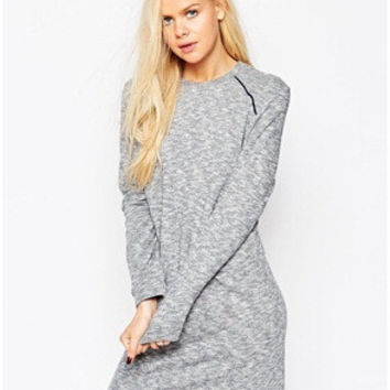 Round-neck Long Sleeve Slim Dress One Piece Dress [6339044673]