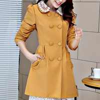 Lovable Lace-Collar Trench Coat - OASAP.com