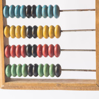 Wooden vintage abacus Soviet retro calculator colourful kids abacus back to school home decor