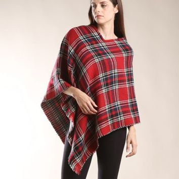 Poncho- Red