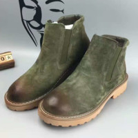 UGG Autumn and Winter Boots Snow Boots for Women and Men Martin Boots Green