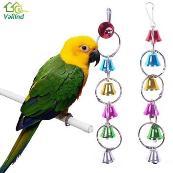 Bird Toys  Pet Bird Ring Bell Parrot Toys Hanging Squirrel Parakeet Cage Toys For Birds Supplies