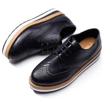 Flat Oxfords Platform Shoes