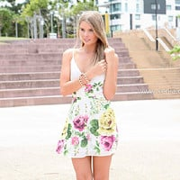 YOU SAID DRESS , DRESSES, TOPS, BOTTOMS, JACKETS & JUMPERS, ACCESSORIES, 50% OFF SALE, PRE ORDER, NEW ARRIVALS, PLAYSUIT, COLOUR, GIFT VOUCHER,,White,Green,Print,SLEEVELESS,MINI Australia, Queensland, Brisbane