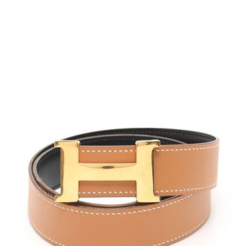 HERMES Constance H belt belt leather gold brown OW engraved