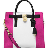 MICHAEL Michael Kors Hamilton Colorblocked Large North/South Tote | Dillards.com