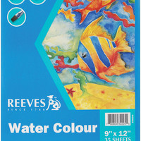 "Reeves Water Color Paper Pad 35 Sheets - 9"""" x 12"