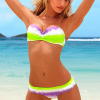 2013 new bikinis Green and white