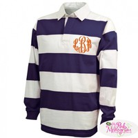 Monogrammed Rugby Shirts At The Pink Monogram