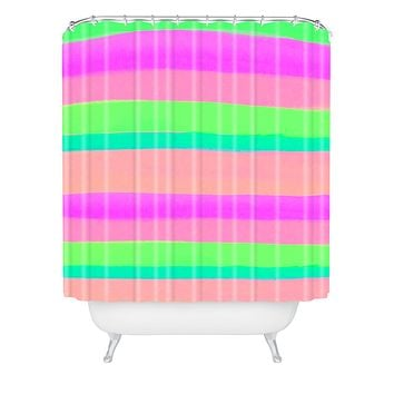 Rebecca Allen Summers Rave Shower Curtain