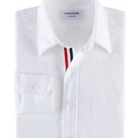Thom Browne : CLASSIC OXFORD BUTTON DOWN SHIRT WITH GROSGRAIN PLACKET - MWL010AW5259