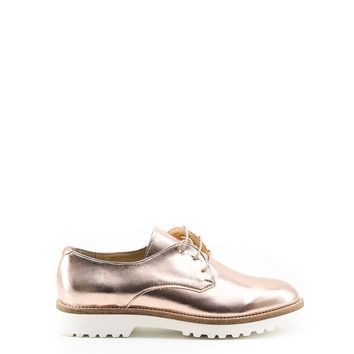Made in Italia Pink Brogues Lace-Up Shoes