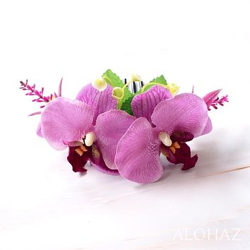Purple Orchid Joy Hawaiian Hair Comb