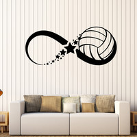 Vinyl Wall Decal Volleyball Ball Sport Game Infinity Stickers Unique Gift (385ig)
