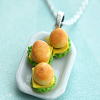 cheeseburger plate necklace