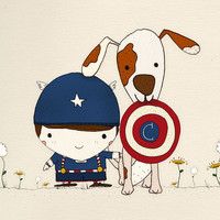 C is for Captain America Print 12x12