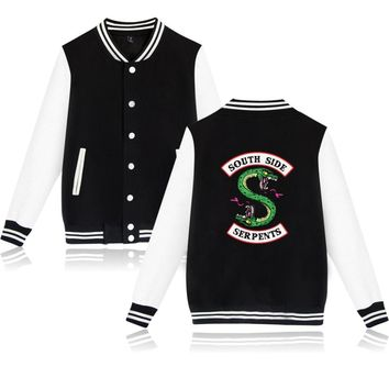 BTS Winter Jacket American TV Riverdale Women Fashion Jacket South Side Mens Female Fans Casual Baseball Jacket XXS-4XL Clothes 1