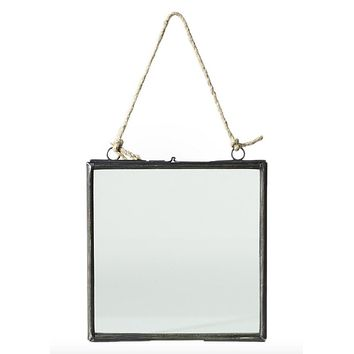 """Decorative Hanging Metal and Glass Wall Frame - 6.5"""" Tall x 6"""" Wide"""