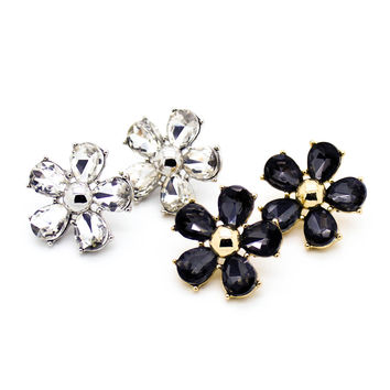 Flower shine earrings
