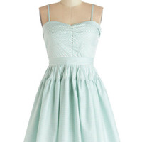 Take a Spin Dress in Green