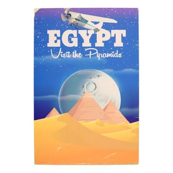Egypt - Visit the Pyramids Vintage travel poster