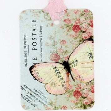 Wedding Tags , Wedding  Favors , Butterfly Tags , Bridal Shower Hang Tags , Garden Party Place Cards