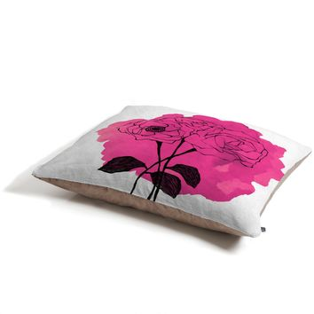 Morgan Kendall pink spray roses Pet Bed