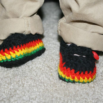 Mary Janes for Infant Rasta Baby Shower gift- Photo Prop