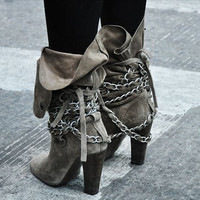 Chacha Strap Suede Boots
