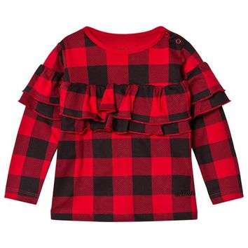 The BRAND Red Checked Frill Top | AlexandAlexa