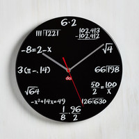 Nifty Nerd Solve Some Time Clock in Black by ModCloth