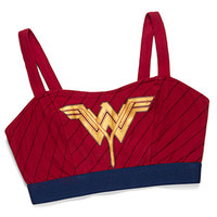 Wonder Woman Caged-Back Sports Bra