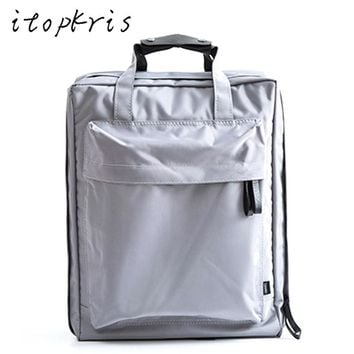 Itopkris Waterproof Designer Student School Bag Casual Handing Women Backpack Large Capacity Couple Backpack Travel Luggage Men