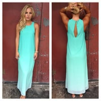 Mint Ombre Ankle Maxi Dress