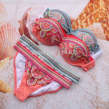 Women Bikini 2015 Sexy Padded Top Swimsuit Sets Fashion Swimwear Women Biquini = 1955921412