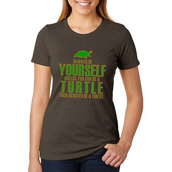 Always Be Yourself Turtle Juniors Soft Heather T Shirt