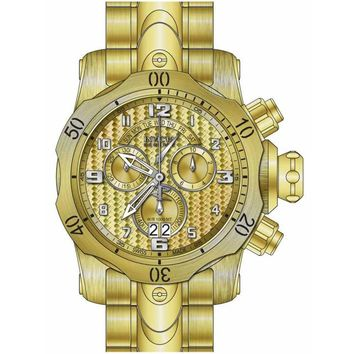 Invicta 17633 Men's Venom Reserve Chronograph Gold Dial Yellow Steel Bracelet Dive Watch