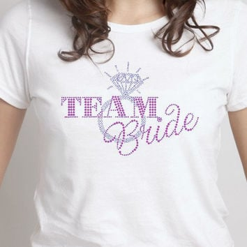 Team Bride Rhinestone Shirt