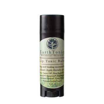 Lip Tonic Balm, Nourishing Lip Treatment for Dry, Chapped Lips by EarthTonics Organic Skincare