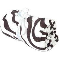 Super Soft Plush Fleece Blankets - By Threadart - Zebra - 10 Colors available