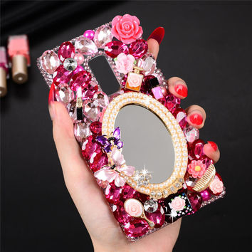 For Oneplus Two 3D Colorful Rhinestone Phone Case Handmade Back Cover For One Plus 2 A2001 5.5'' Clear Bling Protective Shell