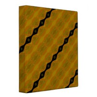Pretty Modern Abstract Striped Black Gold Olive Binder