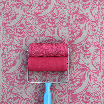 Night Dahlia Patterned Paint Roller and Applicator Set