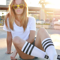 Emma Tube Striped Socks