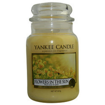 YANKEE CANDLE FLOWER IN THE SUN SCENTED LARGE JAR 22 OZ UNISEX