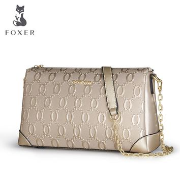 FOXER Fashion Women's Cow Leather Shoulder Bag Luxury Women Crossbody Bags Ladies Messenger Bag Feminina For Bags