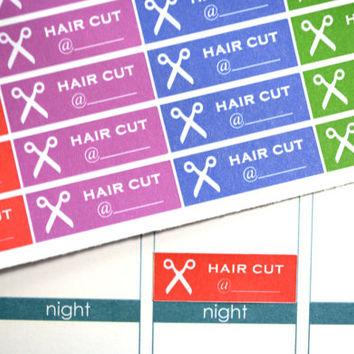 Hair Cut Appt Stickers. Perfect For Your Erin Condren Planner