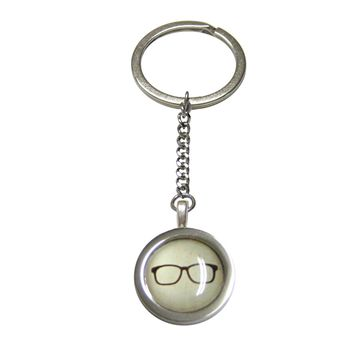 Bordered Hipster Glasses Pendant Keychain