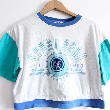 Sport Gear 90s Crop Top Tee
